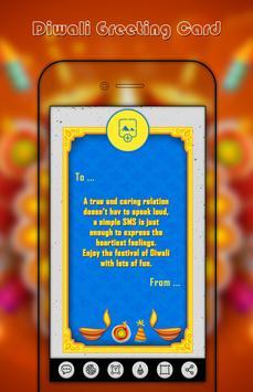 Diwali Greetings card maker poster