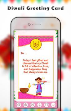 Diwali greetings - greeting card maker poster