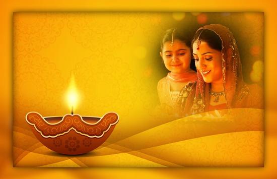 Diwali Photo Frames - happy Diwali poster