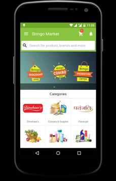 Bringo Market- online grocery poster