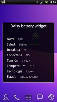 Daisy battery widget screenshot 3