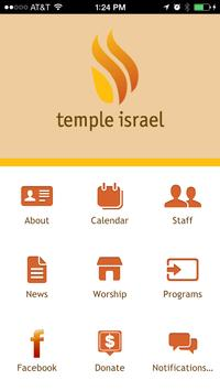 Temple Israel poster