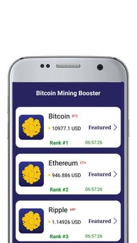 Bitcoin Mining Booster poster