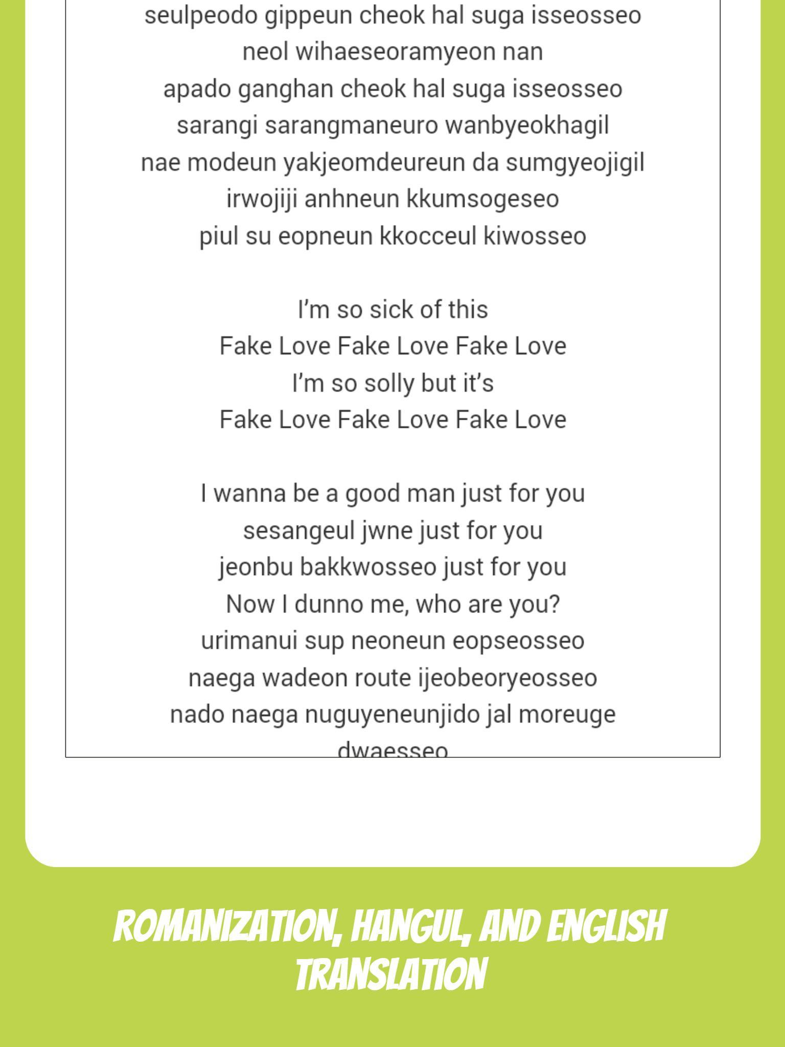 BTS Lyrics & Wallpapers (No Ads & Offline) for Android - APK