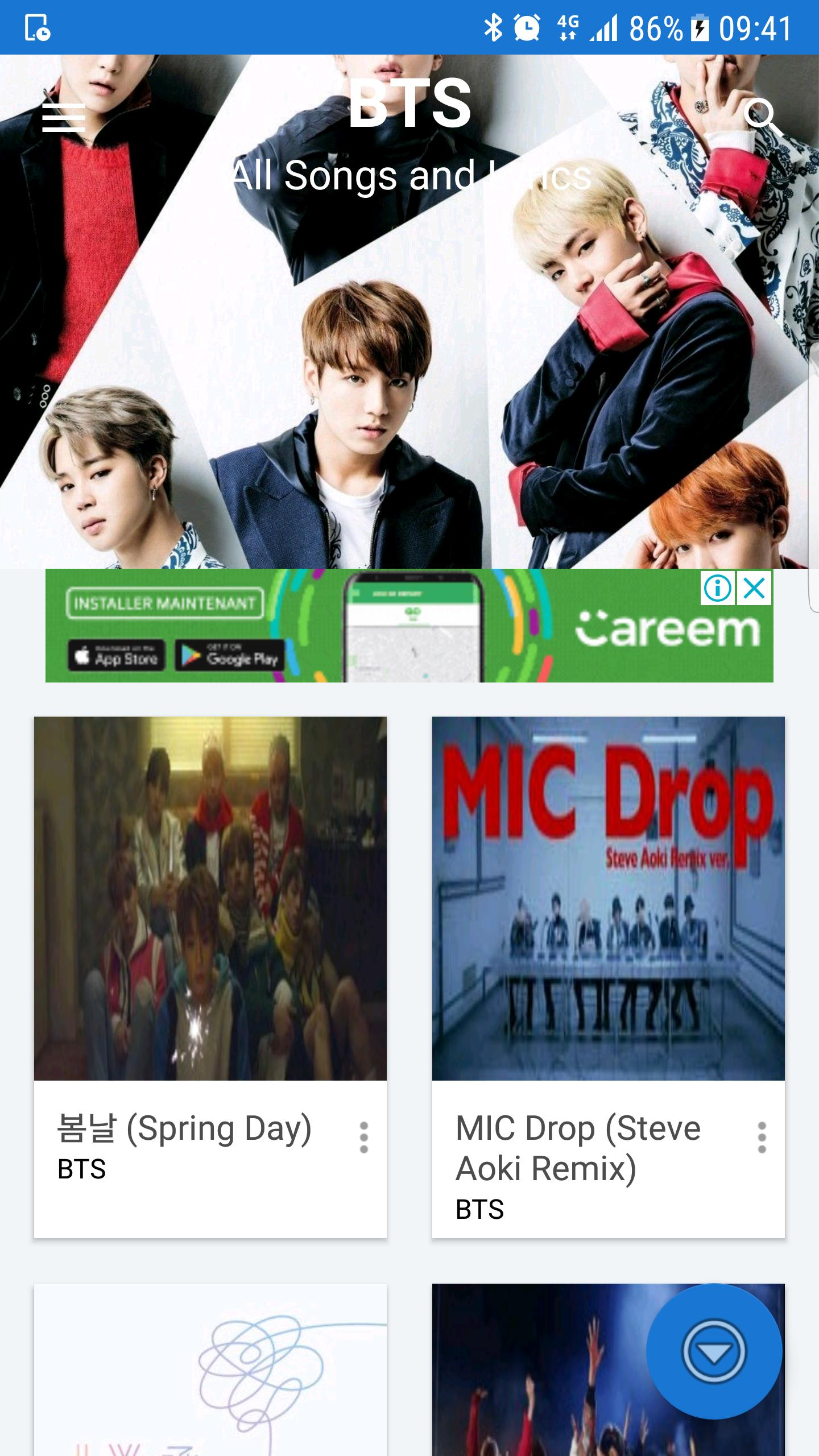 BTS lyrics songs for Android - APK Download