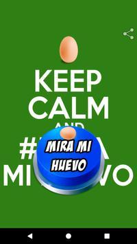 Mira Mi Huevo Button poster