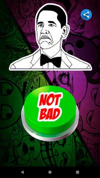 Not Bad Meme Button poster