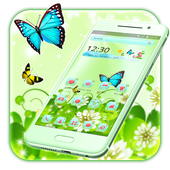Butterfly Green Nature Theme icon