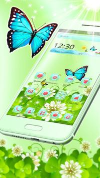 Butterfly Green Nature Theme poster