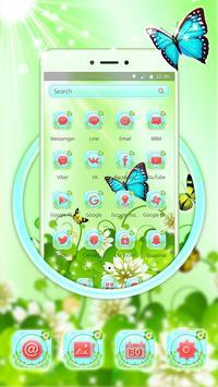 Butterfly Green Nature Theme screenshot 1