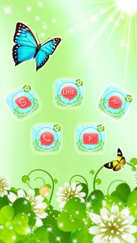 Butterfly Green Nature Theme screenshot 2