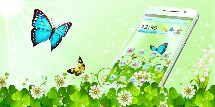 Butterfly Green Nature Theme screenshot 3