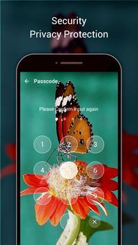 Butterfly Lock Screen - 3D neon butterfly theme apk screenshot
