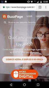 BuzzPage - Rede Social screenshot 1