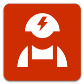 Mobile electrician icon