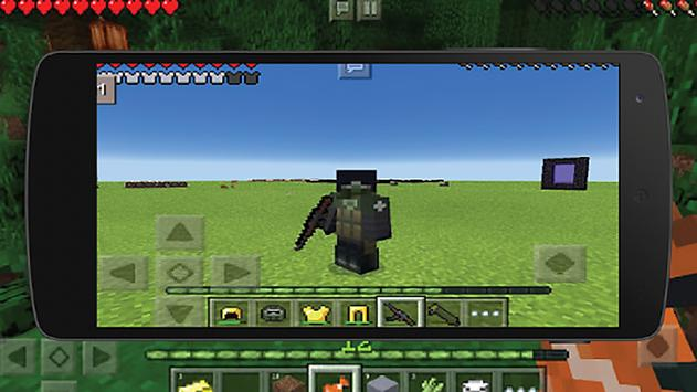 Mod on weapons in Maincraft PE apk screenshot