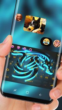3D Blue Dragon Keyboard Theme screenshot 2
