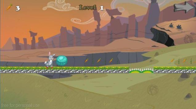 Bunny Adventure Skater Run apk screenshot