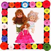 Doll funny icon