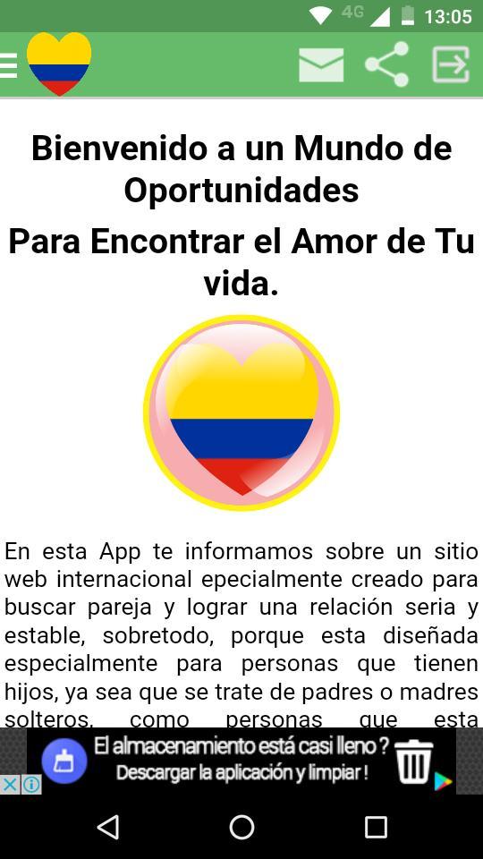 Para colombia encontrar gratis paginas pareja en Solteras Colombia
