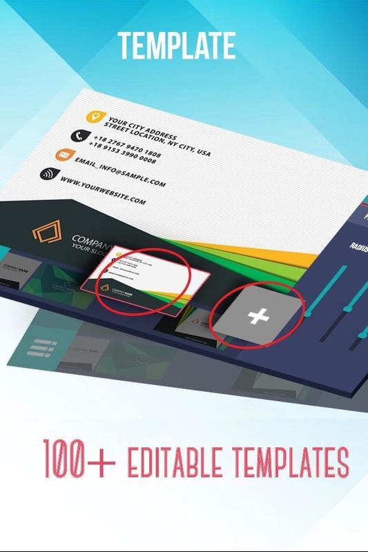 free business card maker app 3d wave business card template