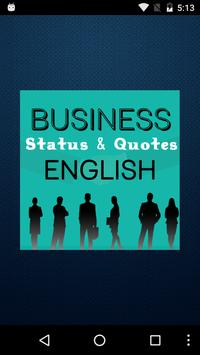Business Status in English poster