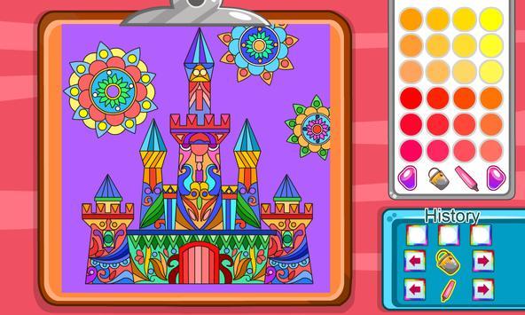 Virtual Mandala Coloring Book screenshot 1