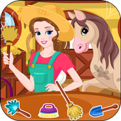Woman Farmer Clean Up icon