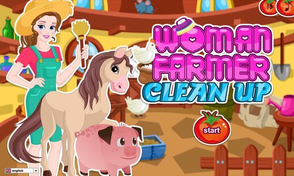 Woman Farmer Clean Up apk screenshot