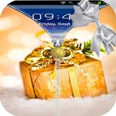 christmas gift zipper locker icon