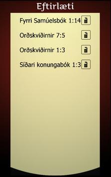 Biblían á íslensku screenshot 5