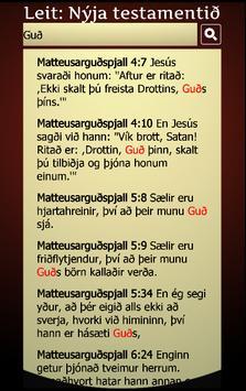 Biblían á íslensku screenshot 14
