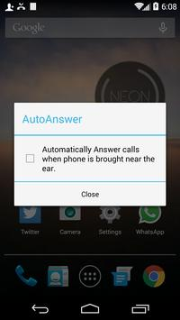 EarAnswer Auto Call Picker Ekran Görüntüsü 1