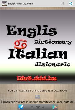 English Italian Dictionary poster