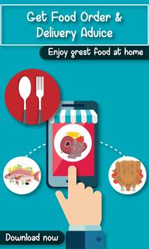 Get Food Order & Delivery Advice poster