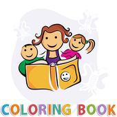 mandala coloring anxiety book icon