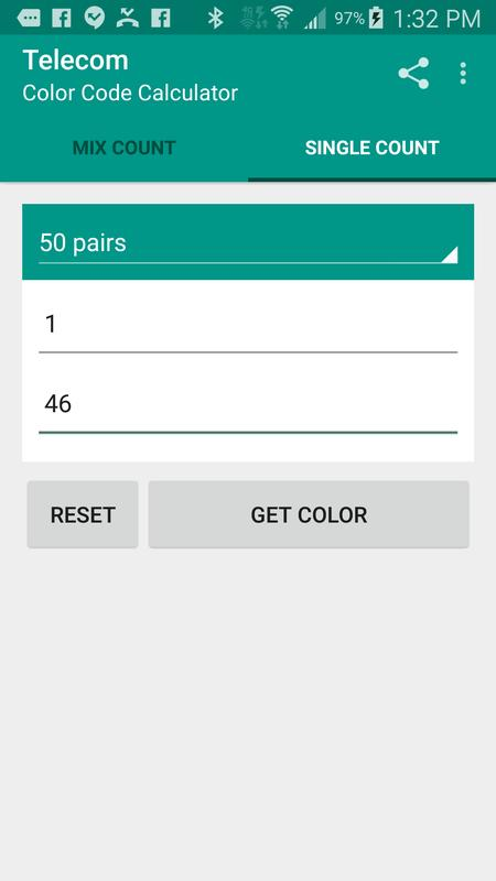 Telecom color code calculator for android free download and.