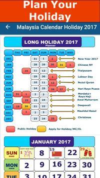Malaysia Calendar Holiday 2017 screenshot 1