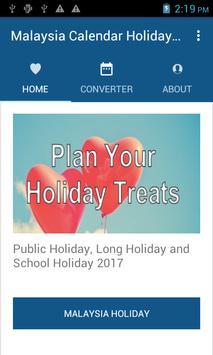 Malaysia Calendar Holiday 2017 screenshot 2