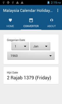 Malaysia Calendar Holiday 2017 screenshot 4
