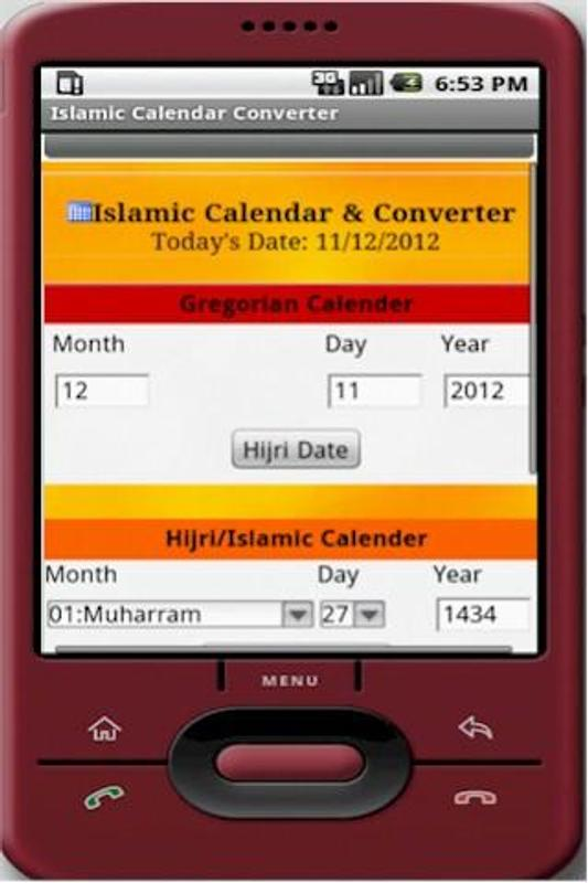 Islamic Calendar Converter For Android Apk Download