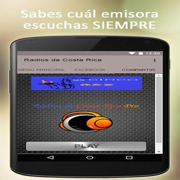 Costa Rican radio free apk screenshot