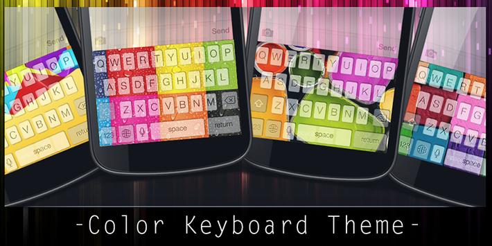 Color Keyboard Theme poster