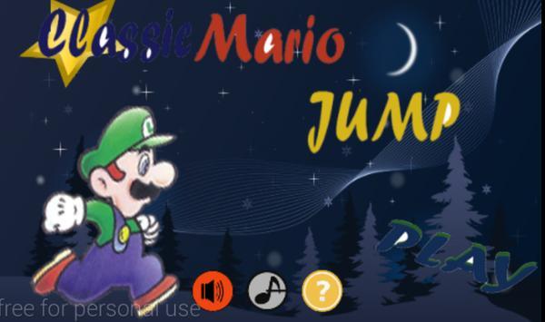classic mario jump poster