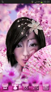 Japan Girl GO Launcher Theme poster