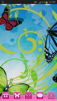 Theme Butterflies GO Launcher apk screenshot