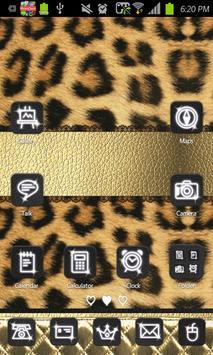Gold Leopard go launcher theme poster