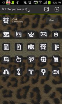 Gold Leopard go launcher theme apk screenshot