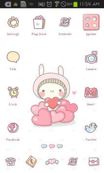 BeBe Heart go launcher theme poster