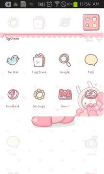 BeBe Heart go launcher theme apk screenshot